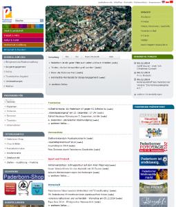 Strona miasta Paderborn